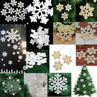 White Snowflake Ornaments Christmas Tree Decorations Home Festival Party Xmas