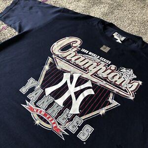 NWT-Lee-Sport-MLB-1998-New-York-Yankees-World-Series-Champions-T-Shirt-Mens-XL