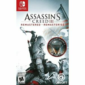 Assassin-039-s-Creed-III-3-Remastered-Nintendo-Switch-BRAND-NEW-FACTOR-SEALED