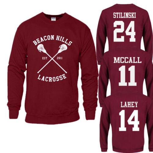 Beacon Hills Lacrosse Felpa con cappuccio Teen Wolf Stilinski McCall Lahey Maglione Felpa.