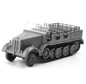 4D-1-72-SD-KFZ-7-Halftrack-Half-Track-Armoured-Vehicle-Plastic-Assembly-Model