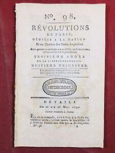 Niort en 1791 Deux Sèvres Pologne Castelnau d'Aude Rochefort Peine de Mort