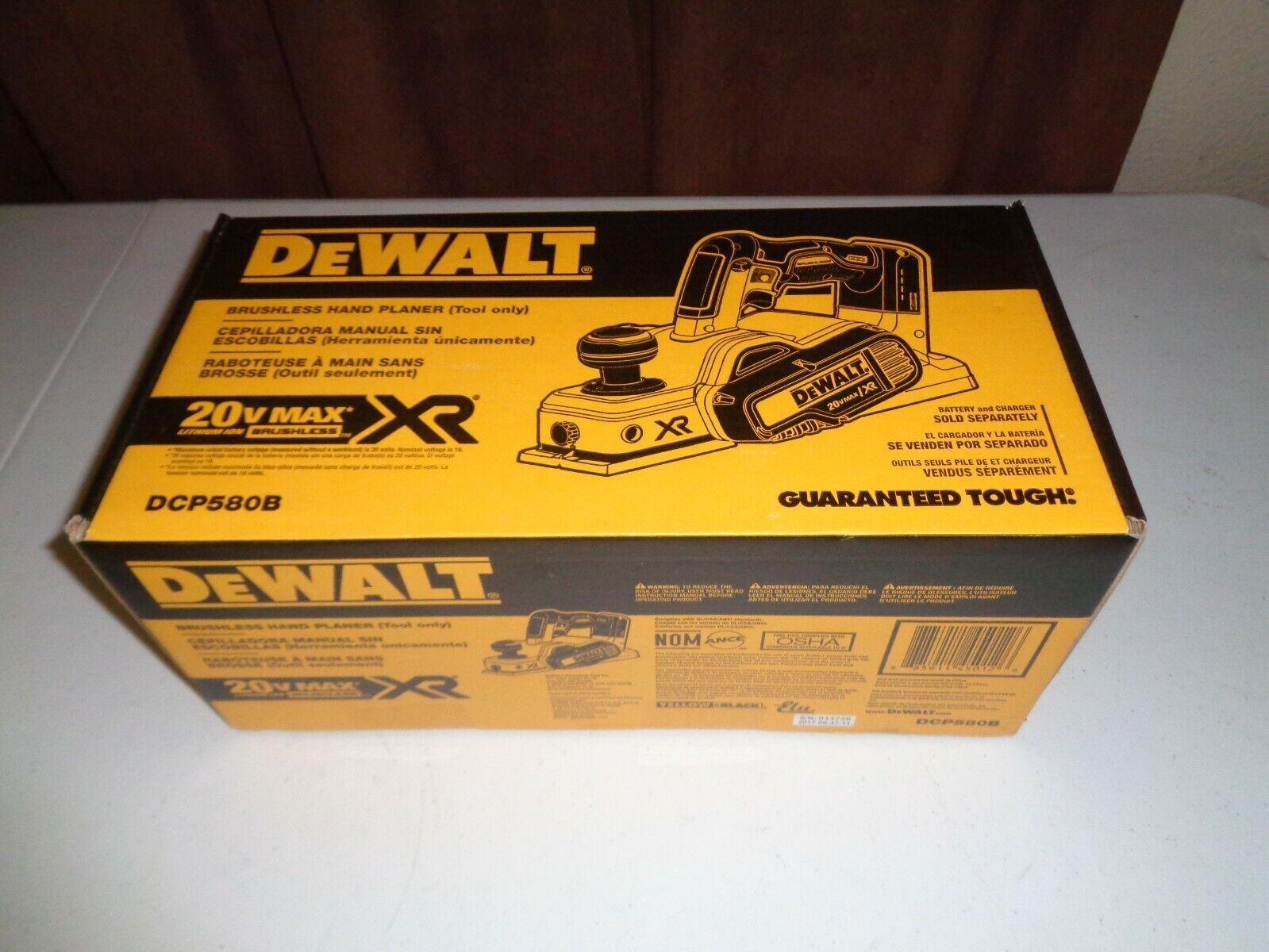 DEWALT DCP580B 20V MAX Lithium Ion Brushless 3-1 4  Cordless Planer