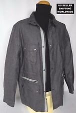 $395.00 Awesome Grey XXL Linen Car Jacket Parka Coat THEORY Please Make An Offer