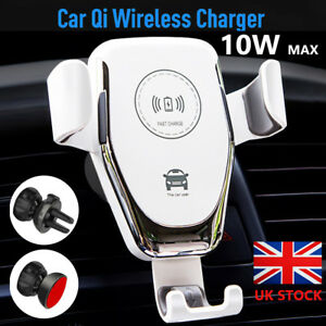 10W-Qi-Wireless-Charger-Car-Air-Vent-Mount-Holder-For-iPhone-X-8-Samsung-S8-S9