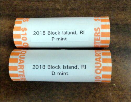 RI NATIONAL PARK QUARTER P /& D 2018 BLOCK ISLAND 2 Rolls H//T ** IN STOCK**