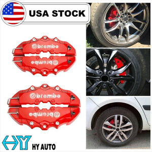3D Red 4PCS Universal Car Disc Brake Caliper Covers Front /& Rear Accessories Kit