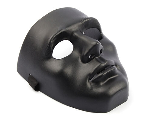 Airsoft Tactical Military Outdoor Man Full Face Mask Defense BB Black B