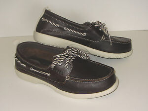 99f12038fe1871 New Women s Crocs Above Deck Leather Boat Shoes Women s SZ 6 7 Brown ...