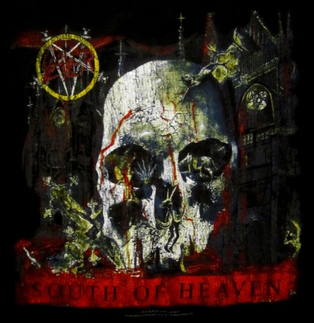 SLAYER cd cvr SOUTH OF HEAVEN Official Black SHIRT Size SMALL new