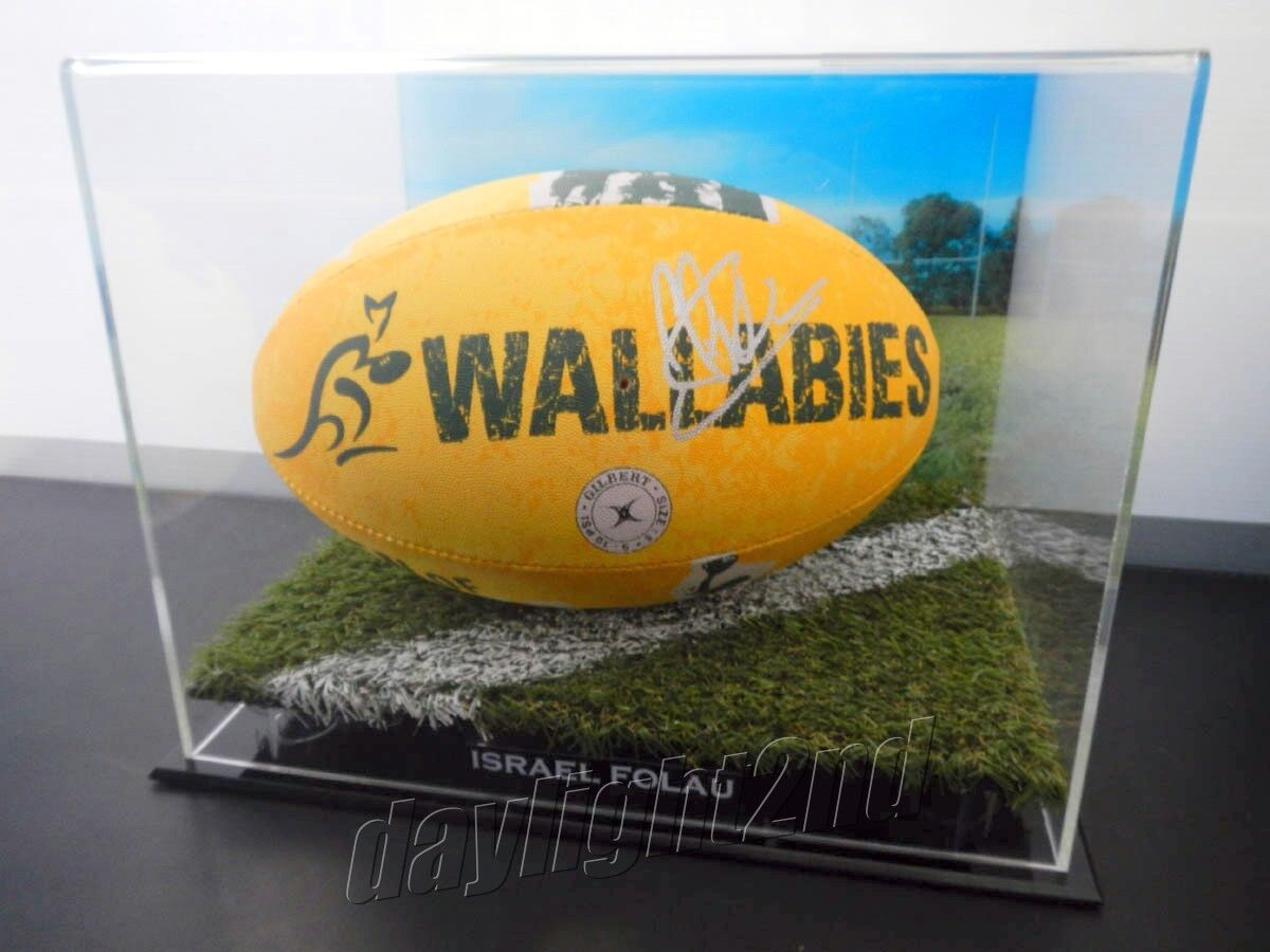 ✺Signed✺ ISRAEL FOLAU Wallabies Football PROOF COA Waratahs 2019 Jersey