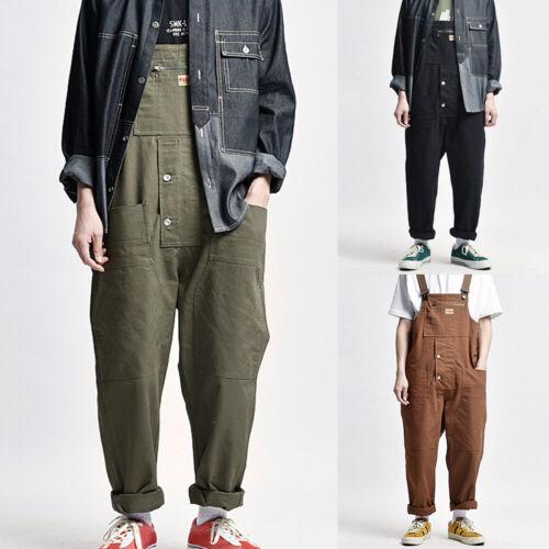 Hommes Bib And Brace Travail Pantalon Salopette Braguette Zip Combinaison