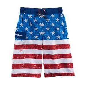 Sz Swim 18 Zeroxposur xl Liner Boys New Bandiera Pocket americana incorporato 20 Trunks zBwUpxq