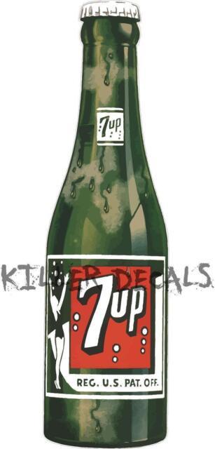 "24/"" 7UP 7 UP BOTTLE 7UP 407 7U207 COOLER POP soda coca cola machine decal"