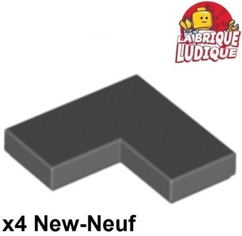 Lego 4x Tile plaque lisse 2x2 corner coin angle gris foncé//d b gray 14719 NEUF