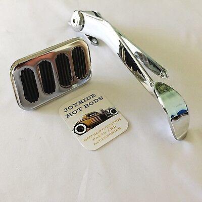 Universal Spoon Throttle Gas Pedal Chrome Steel Chevy GM Ford Pontiac