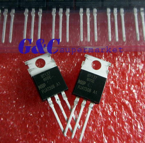 30PCS BT137-600E BT137 TO-220 600V 8A Triacs NEW GOOD QUALITY T2