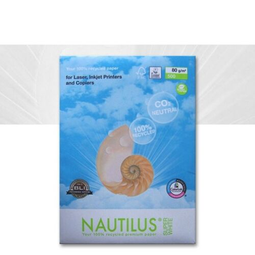 0,03€//Blatt Kopierpapier Nautilus SuperWhite DIN A3 80 g//m² 500 Blatt Öko