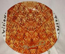 "FELISSIMO JOSEPH NECHVATAL TRIBUTE 21 SALAD PLATE 8 1/4"" ORANGE & BLACK SIGNED"
