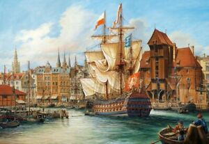 (CSC102914) - Castorland Jigsaw 1000 pc - The Old Gdansk