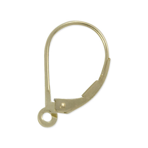 NEW Real 14K Yellow Lever Back Earring Top Solid Gold