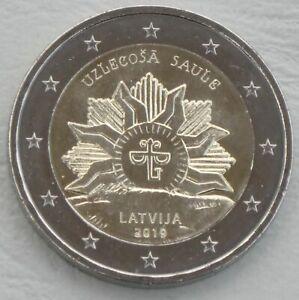 2-Euro-Lettland-2019-Staatswappen-Aufgehende-Sonne-unz