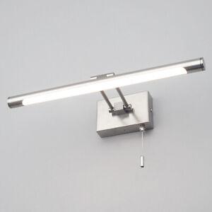 CGC nichel satinato Immagine Parete Bagno Luce Specchio LED Moderno Vanity Cavo di trazione