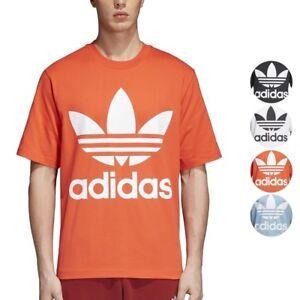 3300a534 Adidas Originals Trefoil Oversize Big Logo T-Shirt Men's | eBay