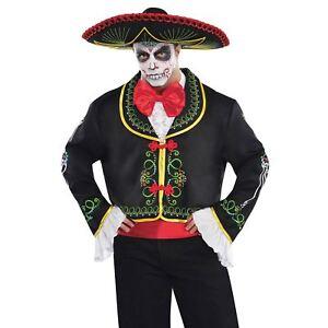 Da Uomo Giorno dei Morti Messicano Costume Scheletro Halloween Costume