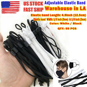 50 Pieces Sewing Elastic Band Cord With Adjustable Buckle For Diy