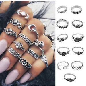 11Pcs-Set-Vintage-Silver-Boho-Arrow-Moon-Midi-Finger-Knuckle-Rings-Jewelry-Gift