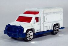 EB Matchbox 2002 Plain Blank White Ambulance EMT Rescue Vehicle Scale Model