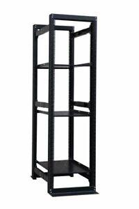 42U-19-034-4-Post-Open-Frame-Adjustable-Network-Server-Rack-Enclosure-w-2-shelves