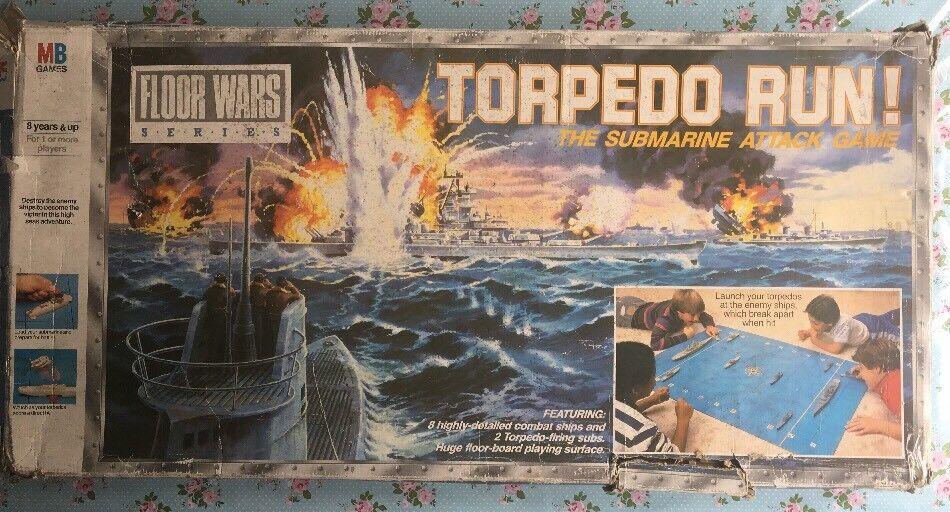 RARE 1986 sol Wars 4740 Mo TORPEDO Run Cuirassé rétro étoile Board Game