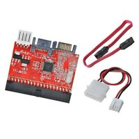 New 2in1 IDE to SATA Serial ATA/SATA to IDE ATA 100/133 Adapter Converter +Cable