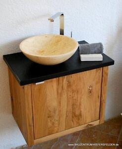 Waschtisch Design Luxus Granit Nero Assoluto Marmor Waschbecken Bad