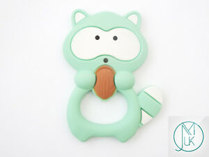 Silicone-Racoon-Teether-for-Teething-Jewellery-Making-7-Colors-to-Choose