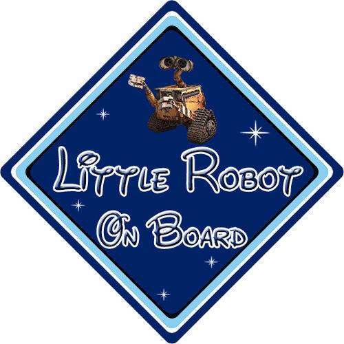Petit robot À Bord Voiture Signe-Bébé à bord-Disney Wall-E DB
