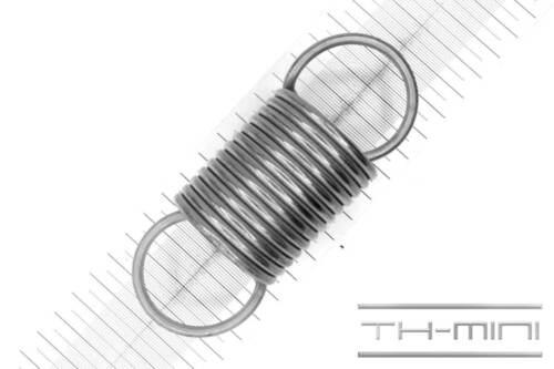 Einhängelänge: 117mm Zugfeder Drahtstärke: 4mm Außen Ø: 44mm Edelstahl