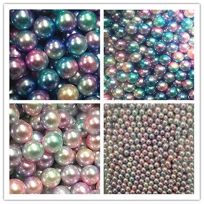 Wholesale 6-12mm Round ABS Imitation Beads Jewelry DIY Craft Scrapbook Decorate