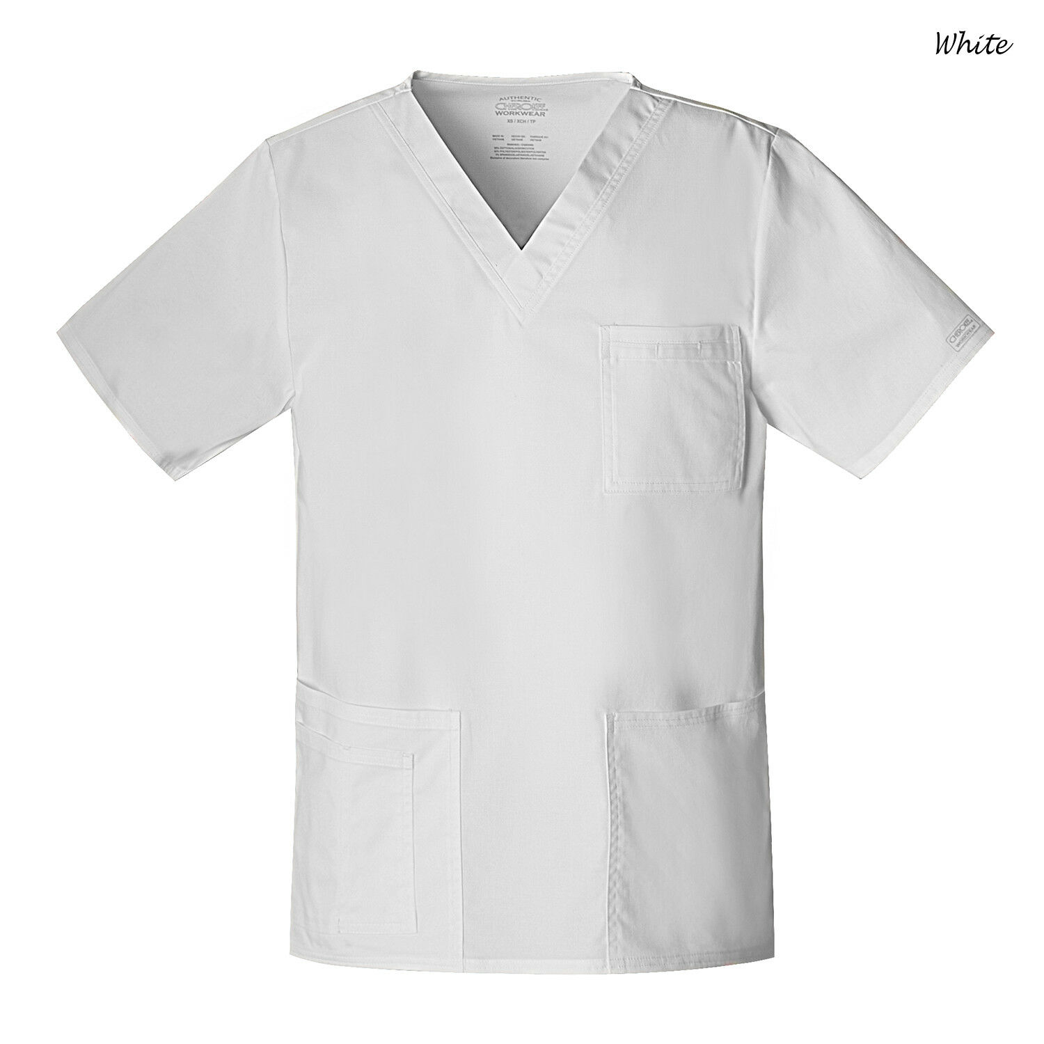 9ef8a30d9bf Scrubs Cherokee Workwear Unisex Core Stretch Top 4725 White 5xl for sale  online | eBay