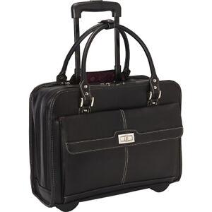 Samsonite-Women-039-s-Laptop-Mobile-Office-Black-Wheeled-Business-Case-NEW