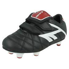 15ca43be4 BOYS GIRLS HI TEC LEAGUE PRO SI EZ JR RIPTAPE STRAP FIRM GROUND FOOTBALL  BOOTS