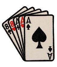 Poker Dead Mans Hand Ace & Eight Iron On Vegas Badge Applique Patch