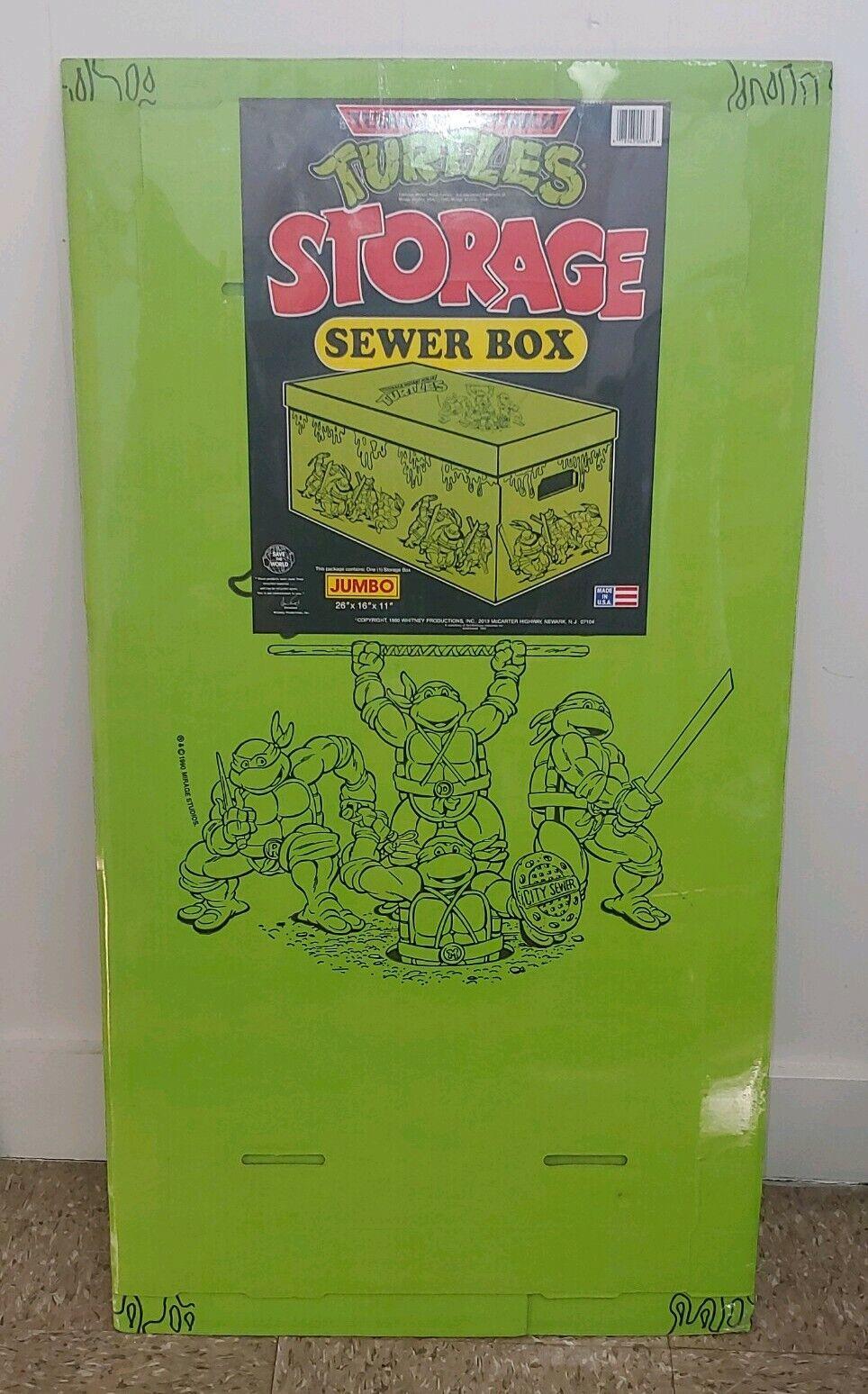 RARE Factory Meerled  Jahr Teenage Mutant Ninja Turtles Sewer Storage Box 1990