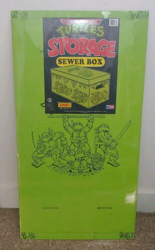 Vintage Teenage Mutant Ninja Turtles Sewer Boîte de rangement 1990 RARE FACTORY SEALED