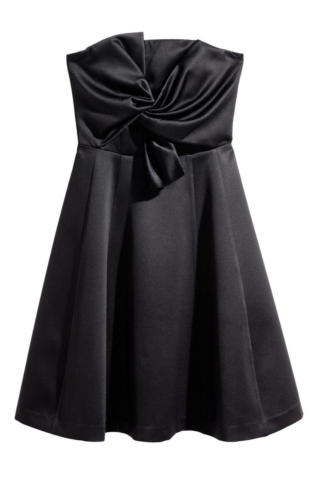 NEU H&M Kurzes Bandeau-Kleid Gr.36 oder 46 dunkelblau Party Abend-Kleid zu Jacke