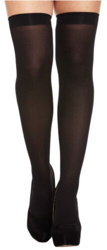 Black Hold Up Over Knee High Stockings Ladies Fancy Dress Up Costume Accessory