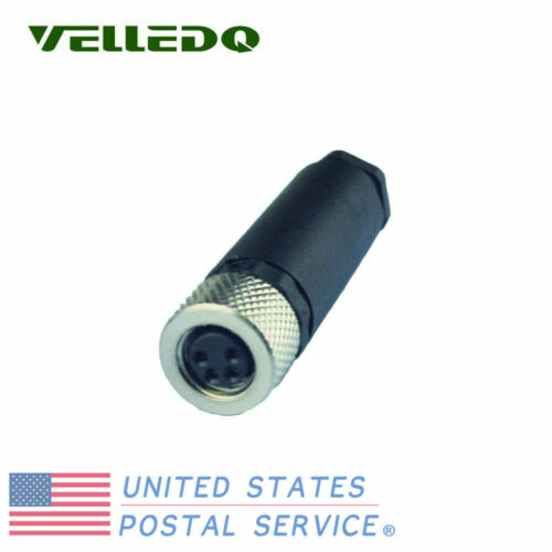 M8 Connector Fittings 4 Pin Female Terminals Adaptor Industrial Field-wireable