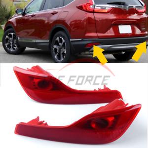 1set For 2017-18 Honda CRV CR-V Rear Bumper Reflector Light Tail Lamp Fog Lights